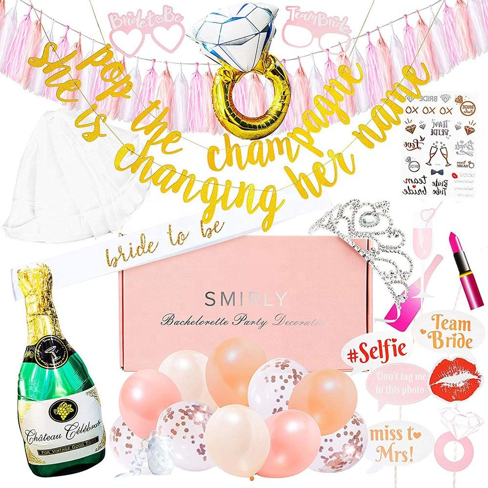Rifornimenti gallina Partito Bride To Be Sash Bachelorette Party Decorazioni Kit