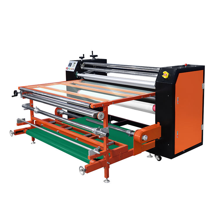 210mm diameter roll to roll textile rotary sublimation heat press machine
