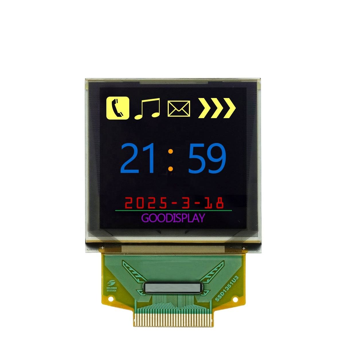 Full Color OELD GooDisplay SPI interface de display <span class=keywords><strong>oled</strong></span> de 1.5 polegadas