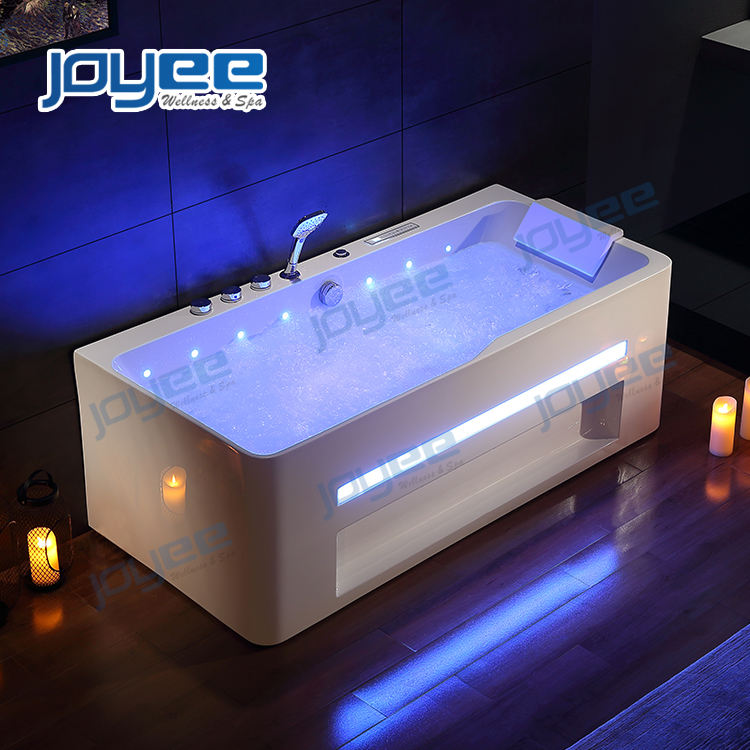JOYEE new model luxury whirlpool bathtub air bubble massage jets hot tub for 1 person indoor spa