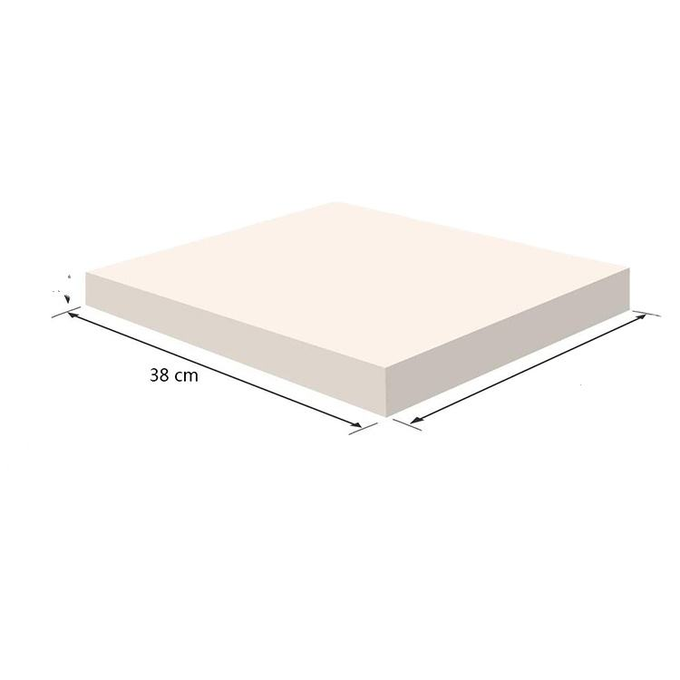 China Factory Customizable 100% Polyurethane Foam High Density White Memory Foam Mattress Topper