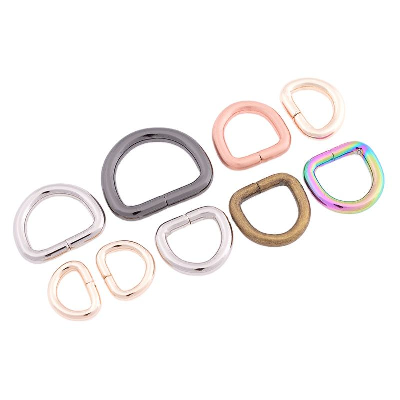 Wholesale Metal Plating High quality metal stainless steel Metal D Ring for Bag Buckle handbag Accessories or luggage bag