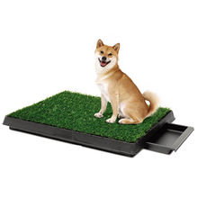 Pet dog indoor grass toilet tray puppy dog training pet toilet pee cleaning pad with drawer
