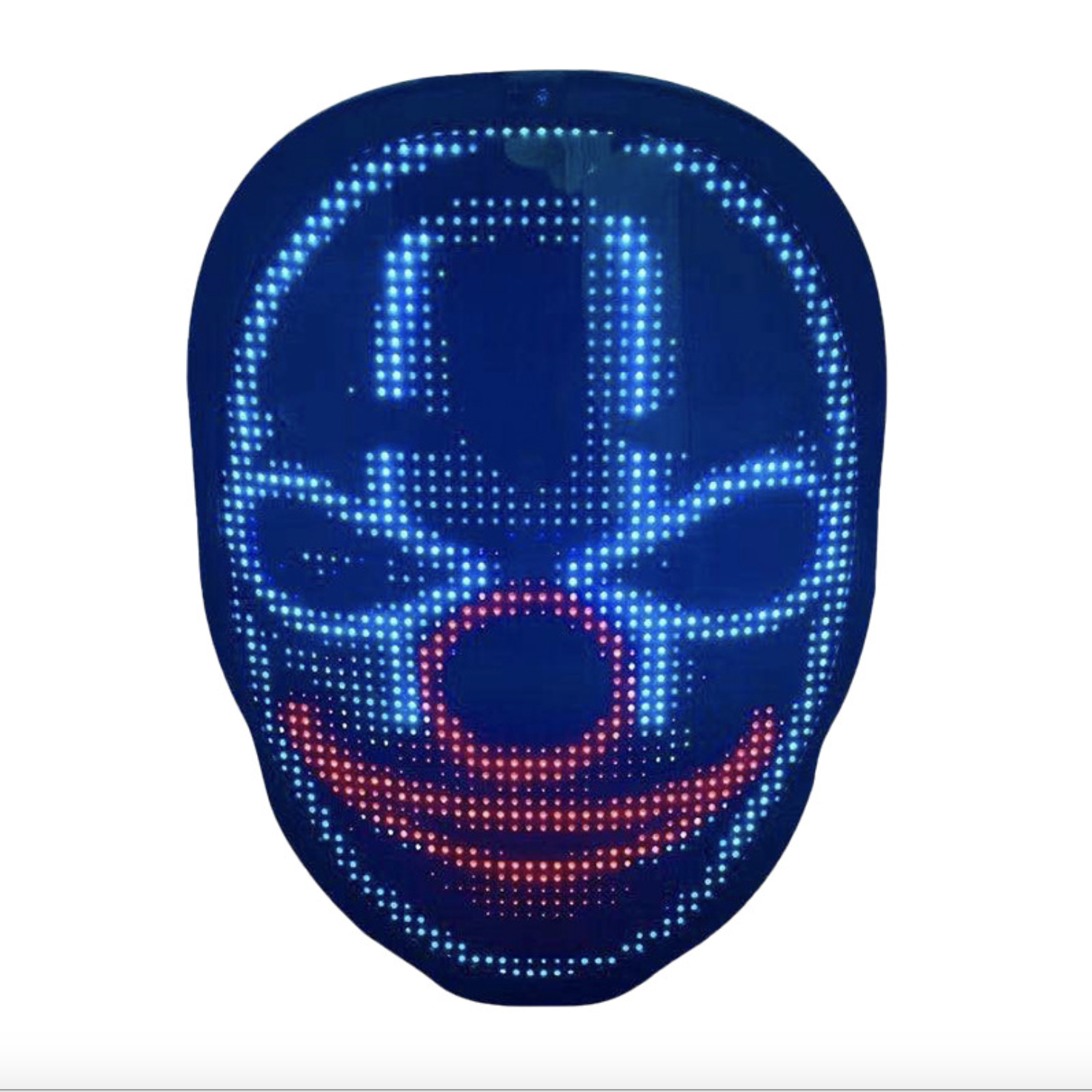2020 Factory Direct Supply Led Display <span class=keywords><strong>Masker</strong></span> Halloween Lichtgevende <span class=keywords><strong>Masker</strong></span> Bluetooth Editing Full Color Kleur Veranderende Party Party