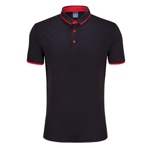top quality white black red short sleeve polyester blank design men sport golf polo t shirt t-shirt with collar
