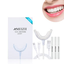 Amazon Selling Home LED Lamp Dental Whitener Pen Kit Teeth Whitening Gel Tooth Cleaning Care Blue Light Blanqueamiento Dental