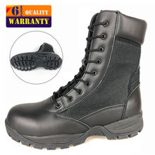 High Quality Genuine Suede Leather High Ankle Police Men Military Shoes Boots Army