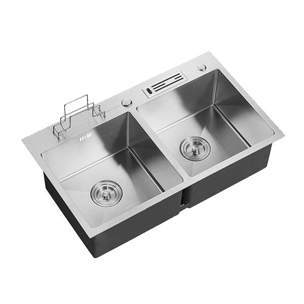 ARROW Double Bowl Farmhouse Polish Kitchen Sink