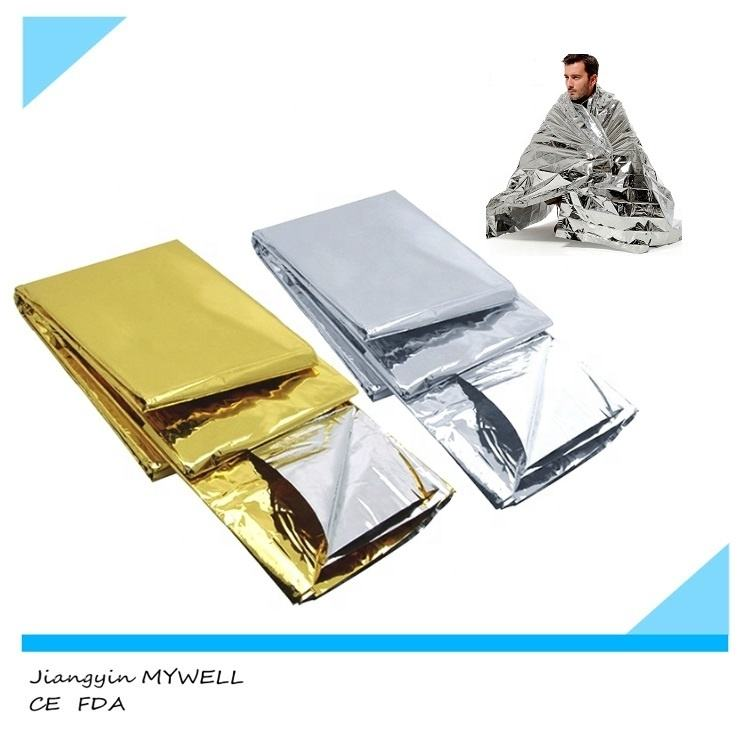 M-ETB01 survival Mylar Thermal foil green military emergency blanket