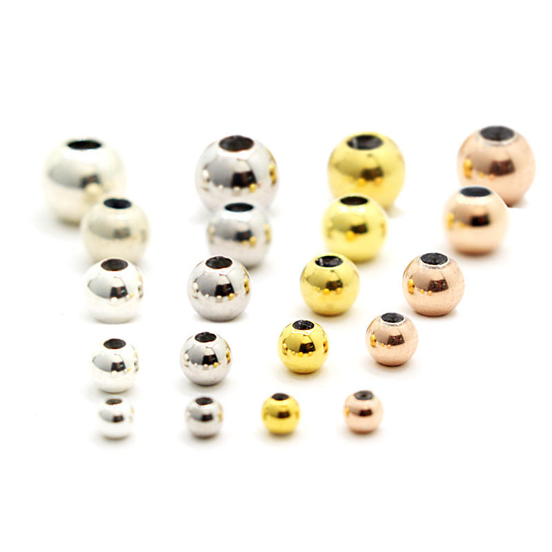 Wholesale DIY 3mm 4mm 5mm 6mm Rubber Spacer Stopper Beads Bracelet 925 Sterling Silver Beads