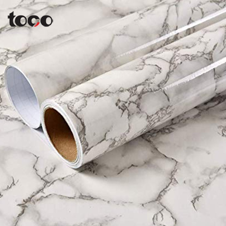 Toco Wholesale Non-toxic PVC Self Adhesive 3D Wall Paper Contact Paper,Marble Design Removable Adhesive Contact Paper