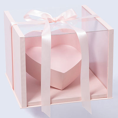 Bouquet packing gift Box Panorama love gift box New transparent lid for Lovers on Chinese Valentine's Day