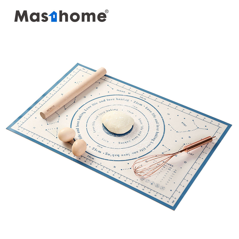 Masthome Hot selling colorful Custom Logo Non-Stick dough Kneading pad Silicone Baking Mat for kitchen
