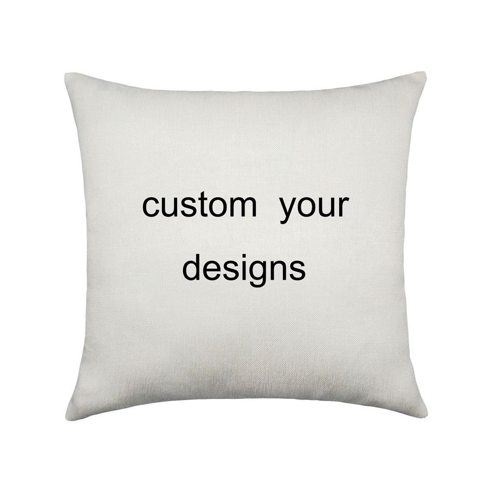"18""x18"" Square Home Sofa Custom Digital Printed Flax Linen Cojines Decorative Sublimation Blank Pillow Cushion Covers"
