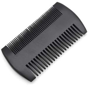 Amazon Natural custom logo wooden black double wide tooth beard lice pocket comb