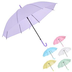 Disposable Clear Paraguas Parapluie Sombrillas Plastic Cheap PVC Transparent Umbrella