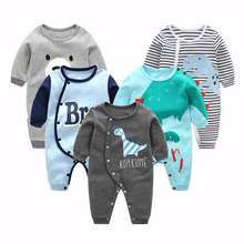Wholesale stylish long sleeve infant newborn baby boys winter clothes rompers