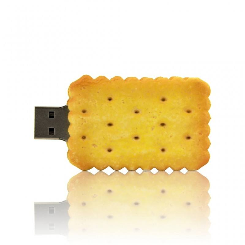 Custom oem design 3D pvc biscuit shaped USB flash drive