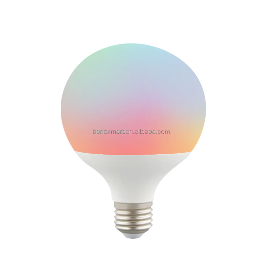 Benexmart A95 12W smart wifi tuya LED Filament Spiral CCT Bulb Vintage Edison lamp E27 dimmer Bulb light voice control