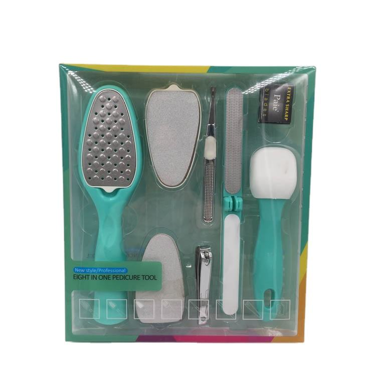 <span class=keywords><strong>8</strong></span> In 1 set Pedicure Kit, Nail Clippers Set, Nail Tools mit Luxurious Travel Case