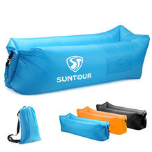 Resistant & Portable Inflatable Lounger, Sleeping Air Bed Chair, Blow Up Lounge Chair for Indoor Outdoor Camping Beach