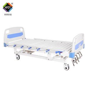 Aluminum Alloy Side rail adjustable Nursing 3 Crank Functions Manual Medical Hospital Bed
