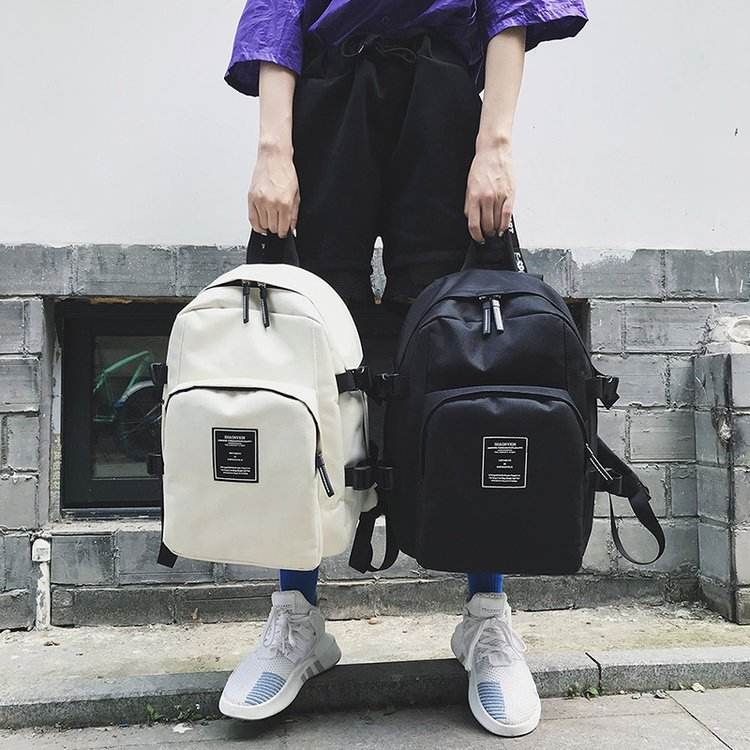 2019 New Korean Version Casual Solid Color Purple Men Women Travel Backpack