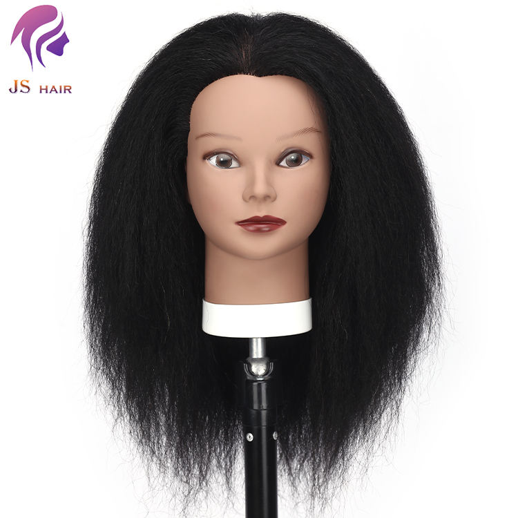 American african mannequin head real hair cosmetology 100% real human hair for salon practice