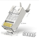 New Gold plated 50U pass through cat7 connector