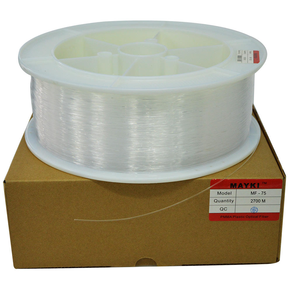 0.75mm pmma flexible fiber optic light filament
