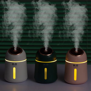 Multi Function Mute Essential Oil Diffuser with Mini Fan and Night light Desktop Aromatherapy USB Humidifier