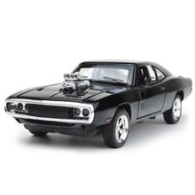 Factory Direct Sell Alloy Diecast Model Friction American Muscle Car With Sound and Lights Toy for Kids
