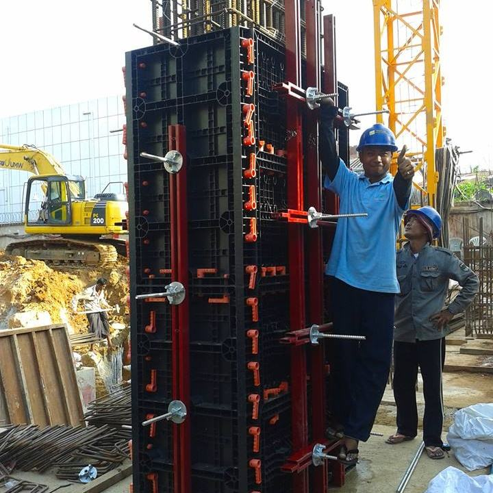 TECON 100 Times Reusable Plastic Adjustable Construction Column Formwork
