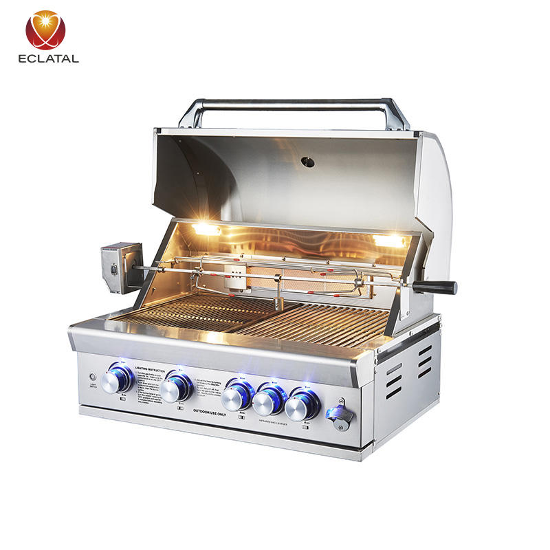 Best Selling Easily Assembled Piezoelectric Ignition Stainless Steel Built-In BBQ Gas Grills