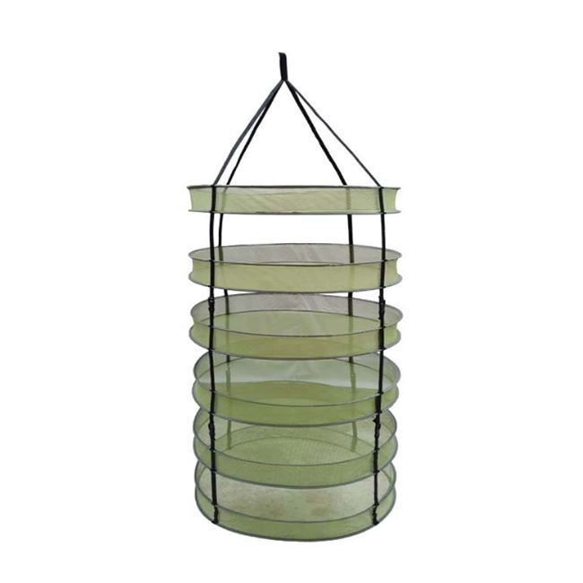 60cm diameter hydroponics greenhouse 6 tier foldable hanging mesh drying net rack