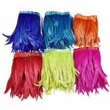 Wholesale Dyed Various Colors Half Bronze Cock tail Fringe Coque ribbon Carnival  Feathers Carnival  Feathers