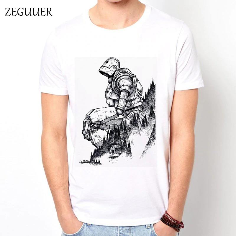 Wholesale Iron Giant T Shirt Harajuku T Shirt Men Streetwear Funny T Shirts Print Fashion Wind Boyfriend Gift Casual Clothes