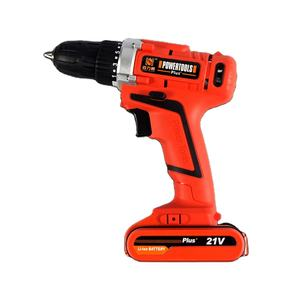 21V Lithium-Ion Single Speed Electric Cordless Drill Kit