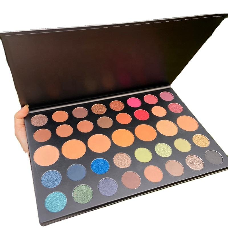 Private Label high pigment Eyeshadow pan Eyeshadow Makeup Cosmetic Pressed single Eyeshadow pans custom your own brand