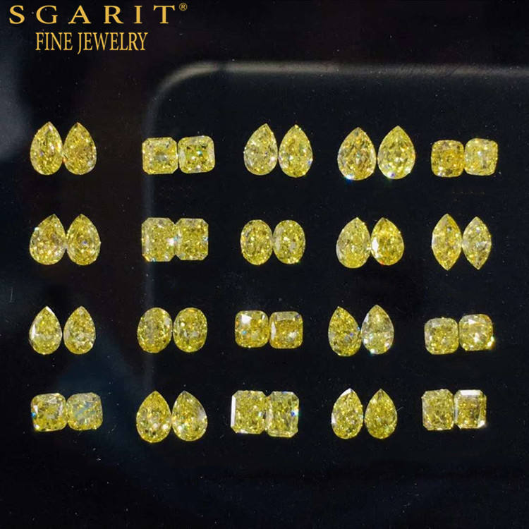 SGARIT factory wholesale bulk fancy color diamond for earring jewelry making natural loose diamond pair