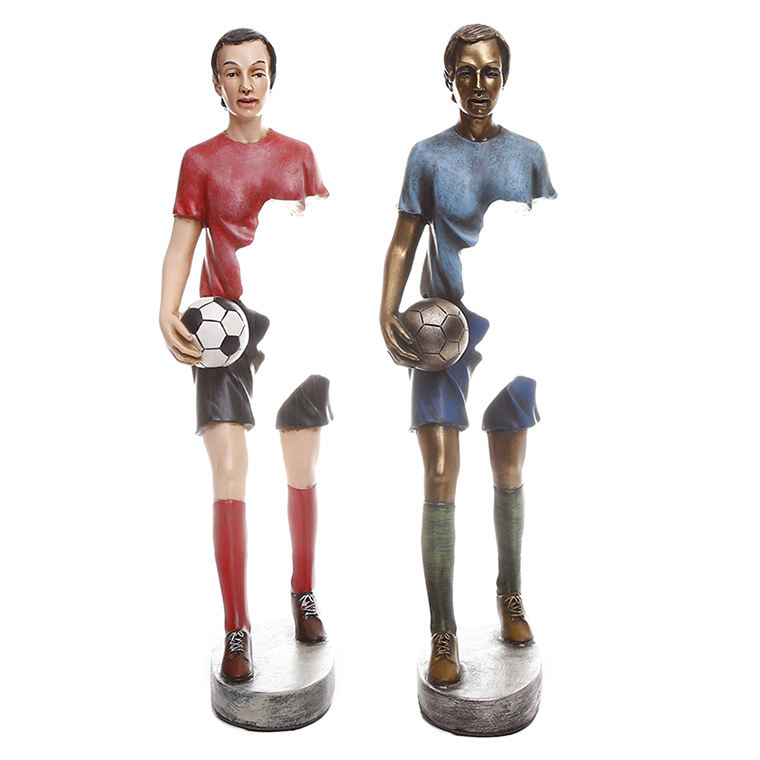 collectible handicrafts Arts and crafts award trophy football player resin statue