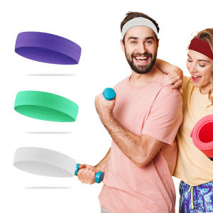 In Stock Anti Slip Custom Sport Elastic Sport Sweat Headband