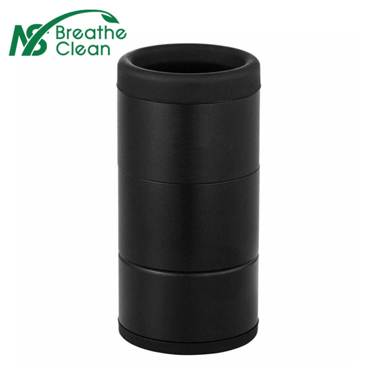 Personal air filter with replacement cartridge to reduce second hand smoke Sploof