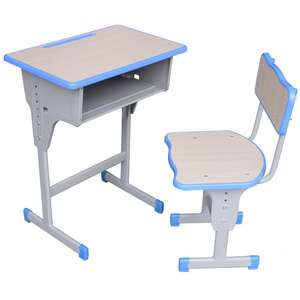2020 hot sale new model cheap school furniture student desk and chair classic student desk adjustable