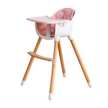 Wholesale Multi-function Adjustable Wooden Baby High Chair For Baby Feeding
