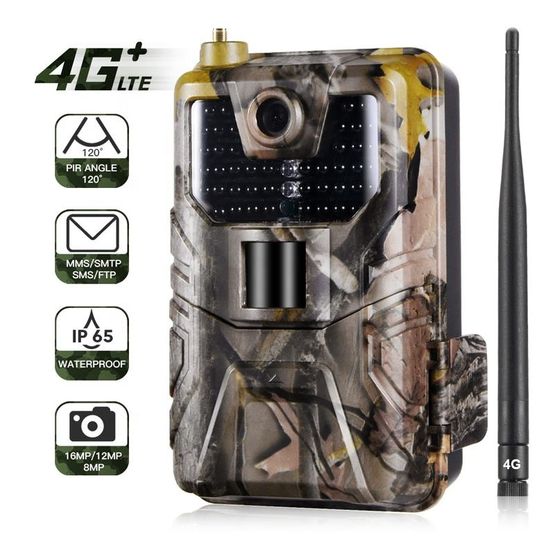 Camouflage Scouting Game Trail Camera 4G Caza Cellulaire Jacht Nachtzicht Thermo Camera Voor Bewegingsdetectie Trail Cam