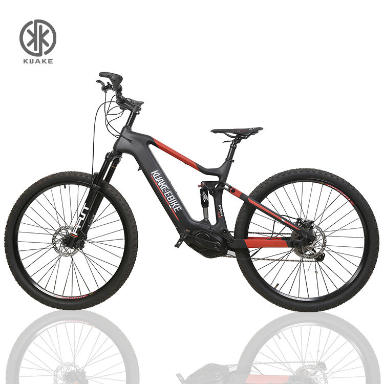 KUAKE Carbon fiber frame 29 mountain Ebike/8 speed lightweight mtb bafang mid drive electric bicycle mountain on sale
