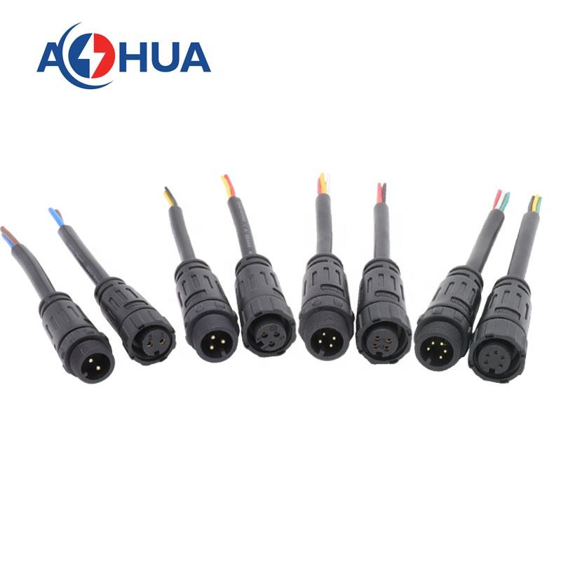 Factory 2 3 4 5 6pin electric wire cable M12 waterproof connector