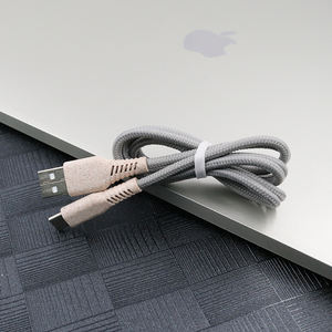 Straw Material Biodegradable phone charger usb cable