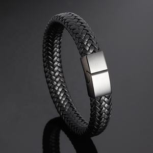 YUNSE Jewelry Braided Rope Genuine Mens Women Charm Leather Bracelet